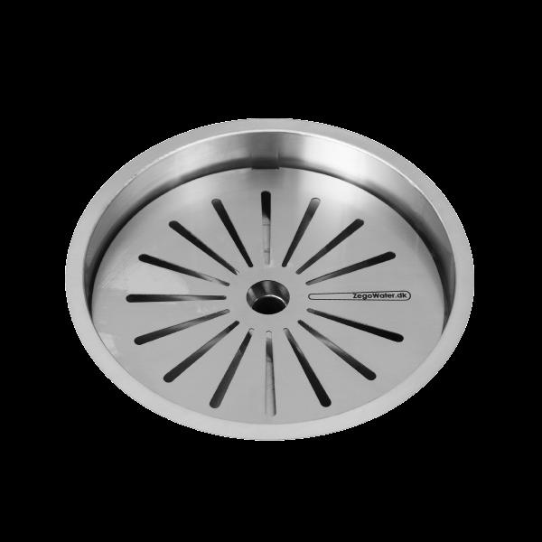 Logo with drain